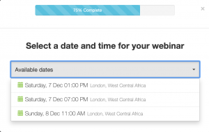 atuomated webinar registration times