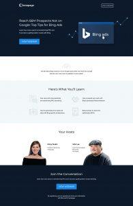 instapage webinar landing page