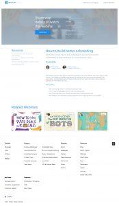 Intercom webinar landing page