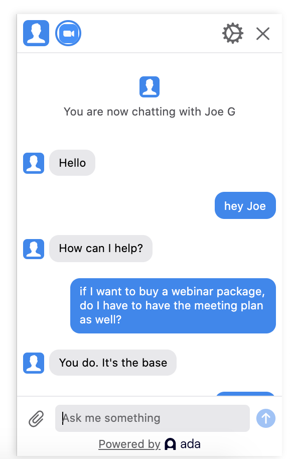 Zoom pricing conversation